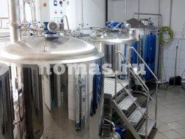емкости варочного отделения пивзавода  НОМАС 1000 литров
