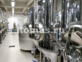 бродильное отделение пивоварни Vodolaz