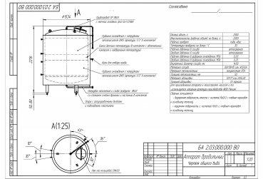 Аппарат брожения БА 2,0 м³ - купить у производителя
