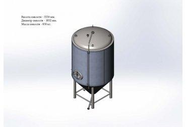 Цилиндро-конический танк 4,0 м³ - купить у производителя